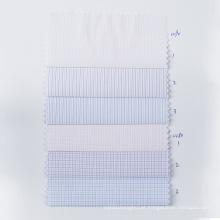 STOCK Check Tecido de poliéster Têxtil de camisa anti-rugas