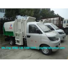 Karry mini camión de basura, elevador hidráulico camión de basura 3cbm en venta