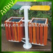 Boîte à ordures en bois extérieure de bonne qualité