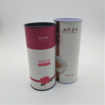 Custom Printed Food Grade Paper Tea Tube Box