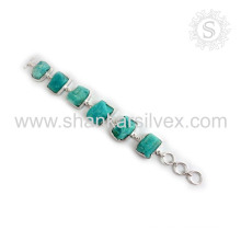 Superbness larimar gemstone silver bracelet jewelry wholesaler 925 sterling bracelets silver jewellery supplier