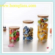 Alta calidad vidrio tarro de almacenamiento de información de Pyrex del Borosilicate