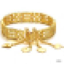 Élégance féminine 18 carats plaqué or Bracelet creux