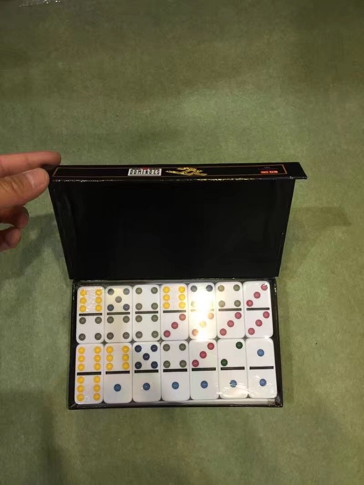 High Quality Double 6 color Dominoes