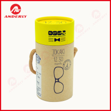 Hand Carry Glass Packaging Paper Tube Hadiah