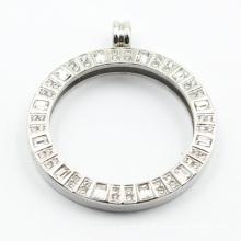 Pingente de medalhão de aço inoxidável 316L personalizado para jóias de colar