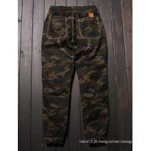Camo Calças Camouflage Jogger Calças Zipper Bottom