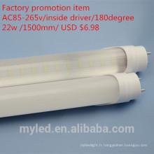 Prix de promotion de l'usine $ 6.98 lumière chaude et chaude au tube LED légère T8 read tube sex 2014