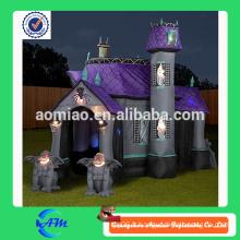 Maison hanté gonflable d'Halloween de haute qualité avec du matériel oxford à vendre