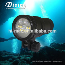 Hi-max UV9 5000lumen Luz de submarinismo Luz de fotografía submarina de gran angular 110