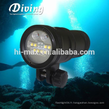 Hi-max UV9 5000lumen Diving Vidéo lumière 110 lumière de photographie sous-marine grand angle