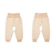Color de la naturaleza 100% pantalones de bebé de algodón, ropa de bebé