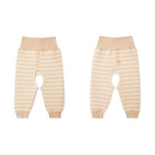 Pantalons de bébé de couleur de la nature 100% coton, vêtements de bébé