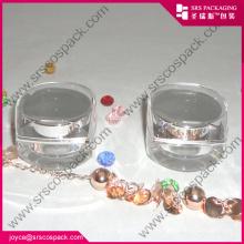 Forma de diamante vacío mini acrílico único cosméticos jarra al por mayor