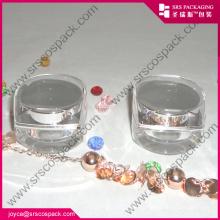 Forme de diamant vide Mini acrylique Unique Cosmetic Jar Wholesale