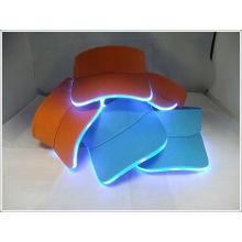 100% cotton led light sun visor customized