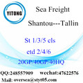 Shantou Port Sea Freight Shipping Para Tallin