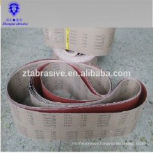 Zirconia alumina belts Flexible abrasive cloth kx167 abrasive belt type sanding belt