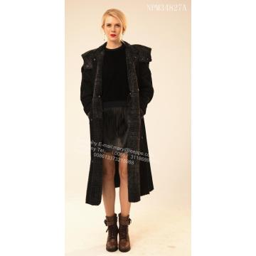 Cappotto Wind Shearling Merino di Lady Long Australia