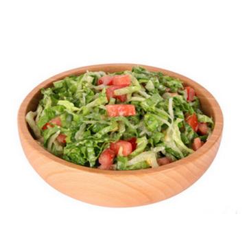 Beech Wooden Round Bowl Salad Bowl