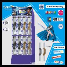 Brinquedo, pdq, embalagem, caixa, luz, cima, espadas