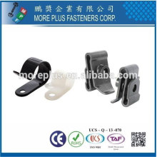 Taiwán Acero Inoxidable PC N66 Natural Negro Nylon Clip de plástico Pequeños clips de plástico Clip giratorio de plástico