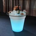 Plastic Illuminated Flower Pot Home Decoration LED Planter