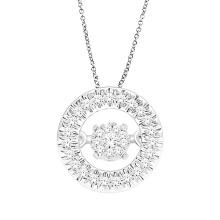 Jóias de prata 925 de pingente de diamante de dança de ouro rosa