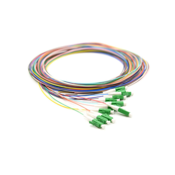 LC SM Berwarna 12 core Fiber Optic Pigtail