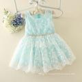 2017 summer children clothing wholesale dress material in surat bule girl dress