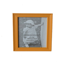 Modern Yellow Wooden Photo Frame for Wall Hanging