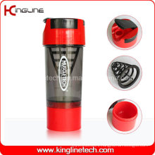 600ml Plastic Shaker Bottle with Filter and Containers (KL-7008)
