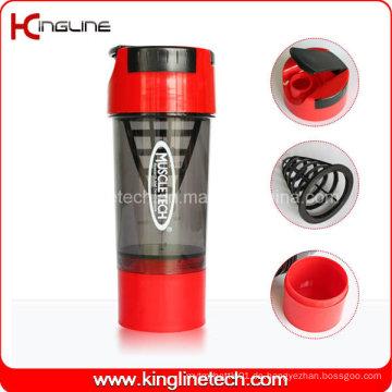 600ml Plastikschüttlerflasche mit Filter und Behälter (KL-7008)