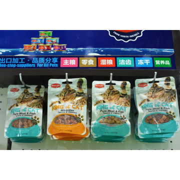 Black sesame with chicken pet food for cat