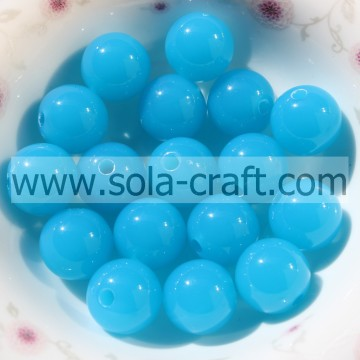 Turquoise Color Beautiful Tiny Gumball Great Solid Plastic Beads 6MM Decoration Beads