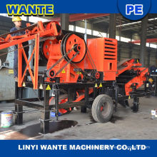 Hot sale small mobile stone jaw crusher for sale