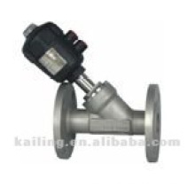 angle valve with flange