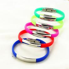 Bracelet bracelet en silicone coloré OEM de bonne qualité à vendre en stock