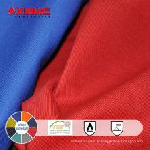 Tissu ignifuge de coton / polyester pour des vêtements de sécurité