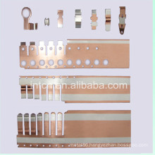 Metal cladding strip for stamping component