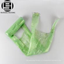 Biodegradable пластичная ручка тельняшки строку мешок отброса на крене
