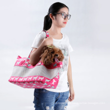 Canvas Dog Bag Carrier Chinese Wholesale Pet Carrier With Mesh Cute Fashion Design Pet Sling Carrier