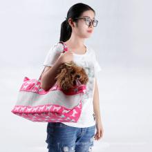Portador de saco de cão de lona chinês transportador de animal de estimação por atacado Com malha Design de moda bonito portador de animal de estimação de estilingue