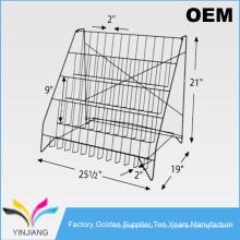 Muti-Pocket Flooring Assembly Wire Rack d'affichage DVD pour vente de CD