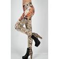 Mulheres bonitas sem costura meias leopardo imprimir Leggings Jean