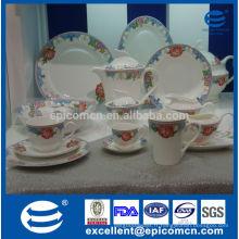 Fabricant en gros, style européen, grâce, 86pcs, vaisselle, fine, os, porcelaine