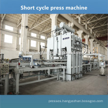 Embossed melamine board press machine / Melamine board making machine / Short cycle laminating hot press