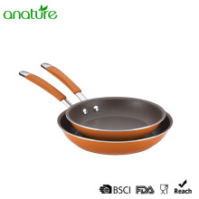 Orange Heat Resistant SS Handle Nonstick Skillet