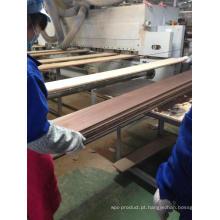 Sulco de processamento e construção de lingotes Piso de engenharia de carvalho
