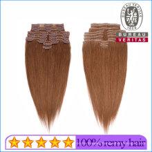 Clip Hair 100% Brazilian Human Virgin Hair Clip Hair Extension Remy Hair
